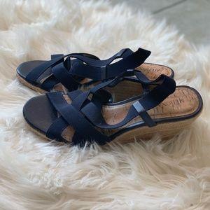 Merona | Strappy Navy Wedge Sandals